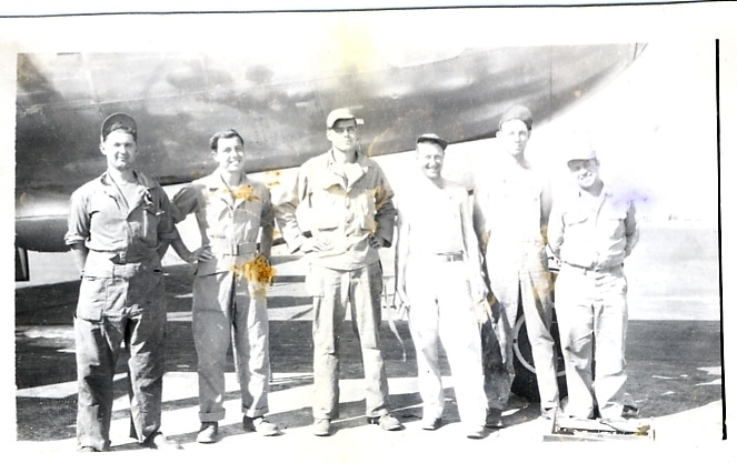 The ground crew of Little Mike. Dad is the tall guy third from the left.