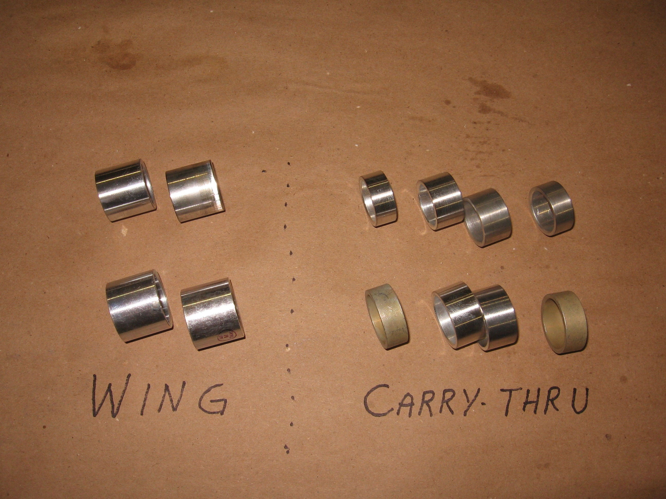 New bushings showing the original smooth clean surfaces.