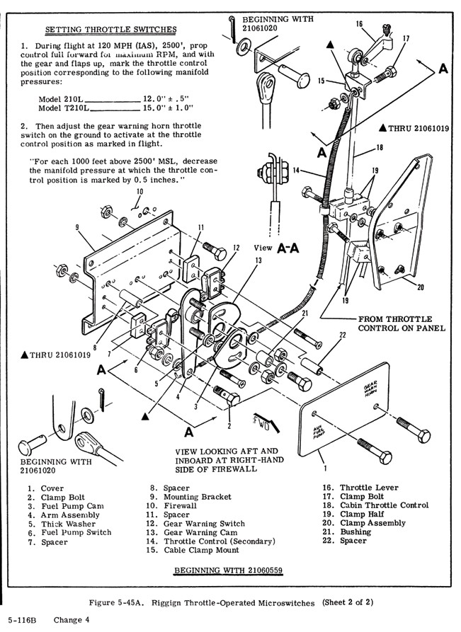 """This shows the complexity of the throttle switch configuration mounted on the forward side of the firewall. The older serial number aircraft are a bit different but suffers from the same need for frequent lubrication."""